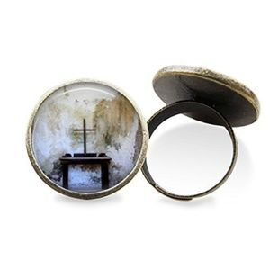 Wooden Cross Ring